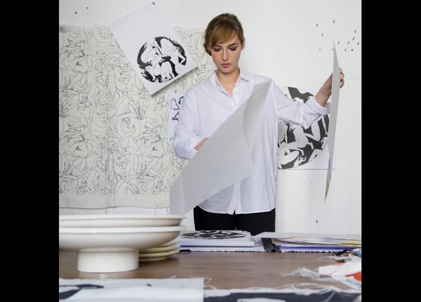 Louise Bourgoin artiste pour Pierre Frey visuel article2