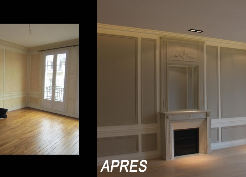 restructuration d un appartement haussmannien c interieur. Black Bedroom Furniture Sets. Home Design Ideas