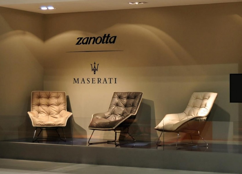 Grandtour Armchair Design by Zanotta for Maserati Salone del Mobile 2013 Milan